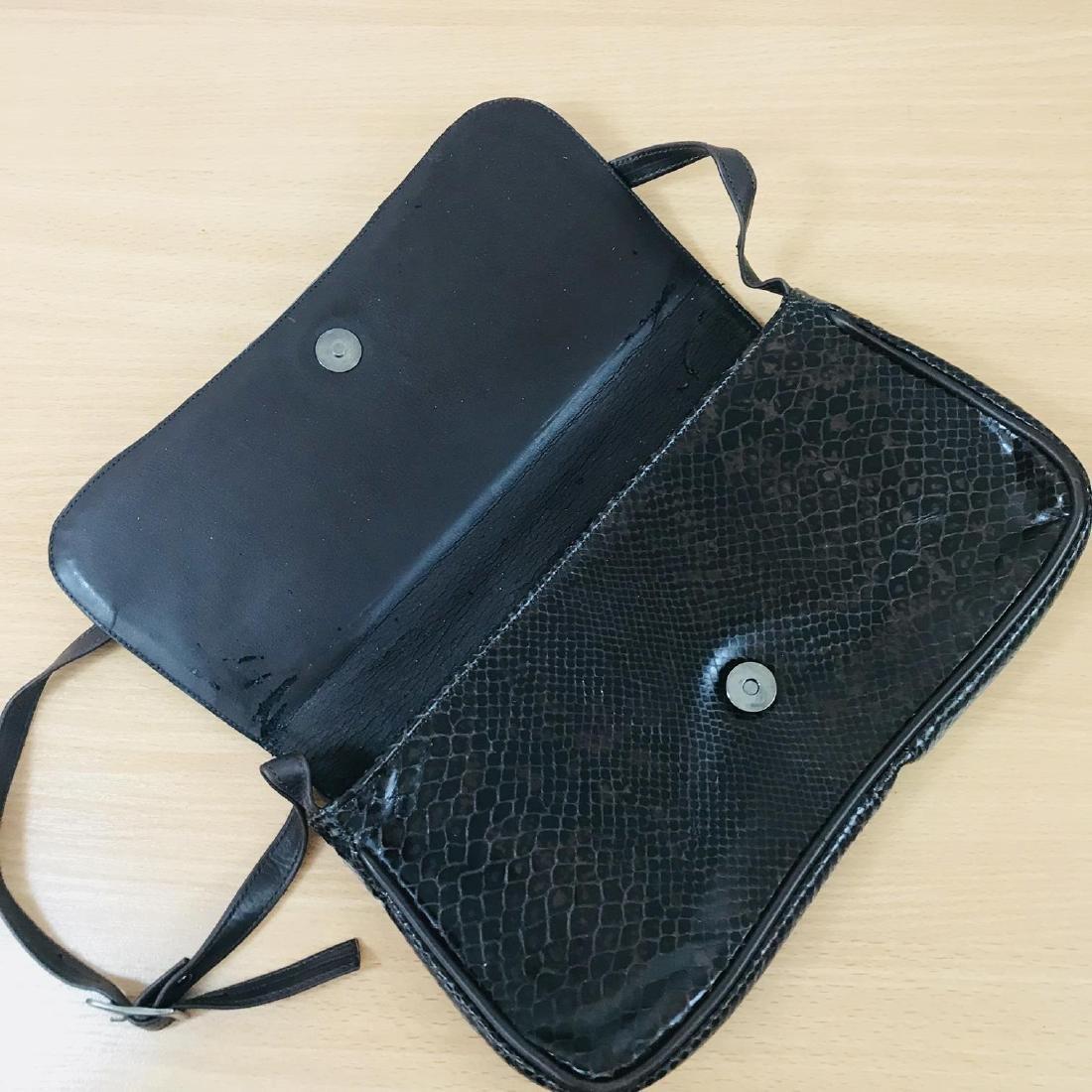 Vintage Brown Snakeskin / Leather Shoulder Bag - 6