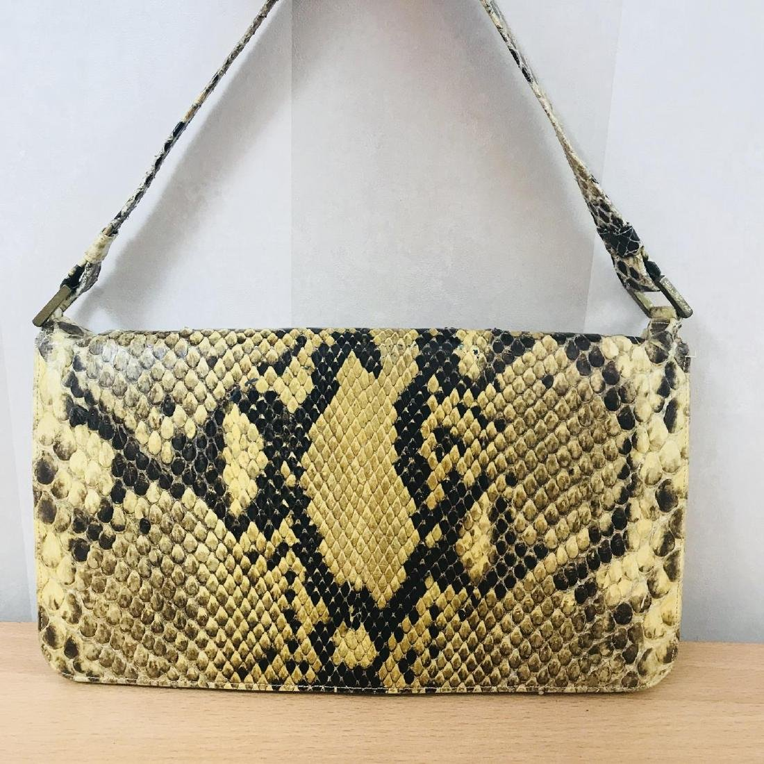 Vintage Snakeskin Leather Handbag