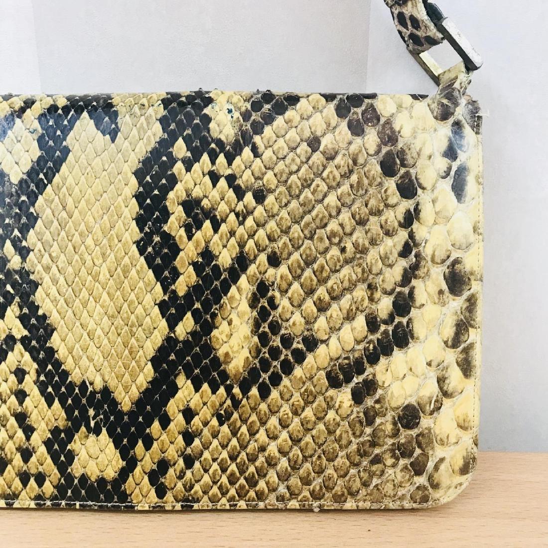 Vintage Snakeskin Leather Handbag - 2