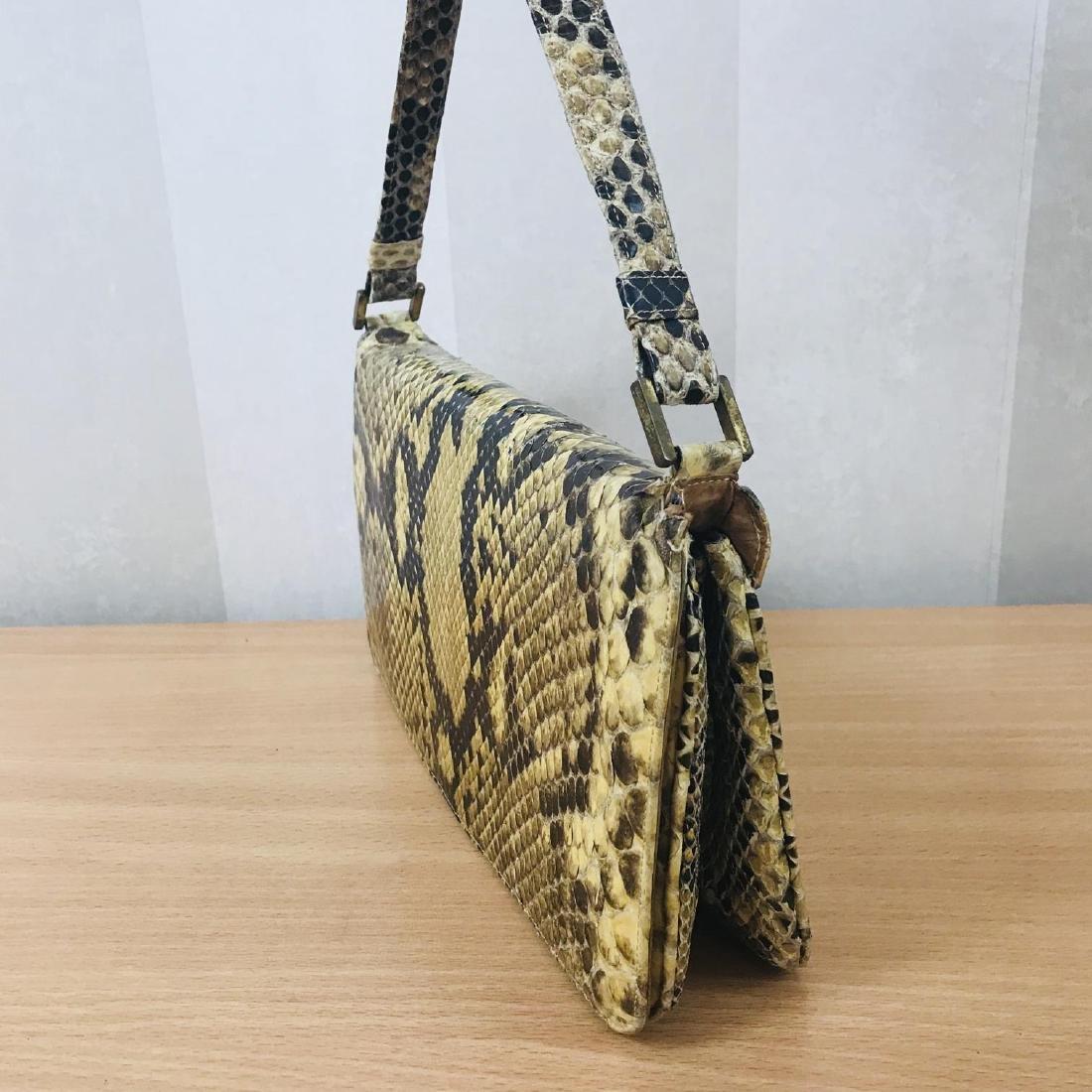 Vintage Snakeskin Leather Handbag - 3