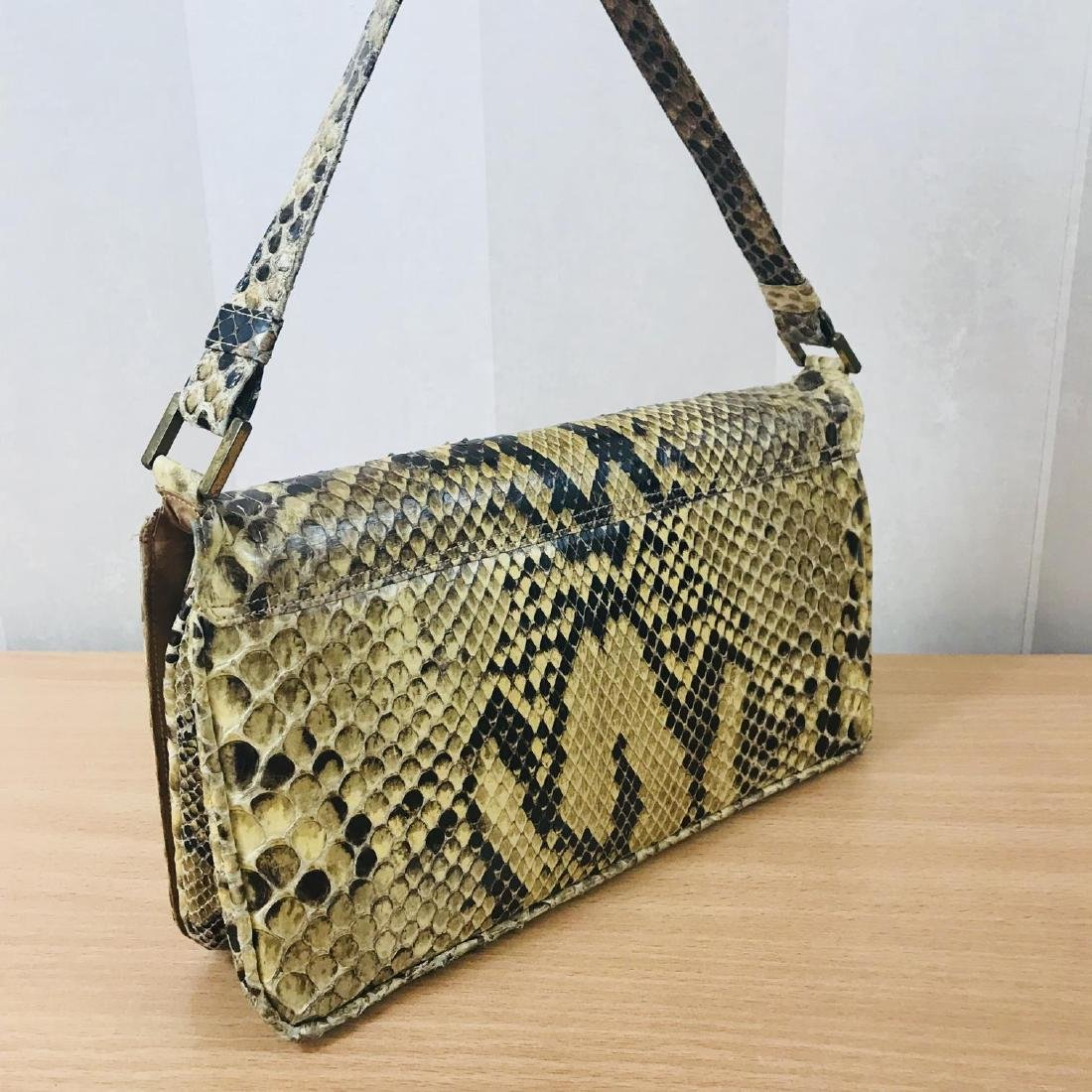 Vintage Snakeskin Leather Handbag - 4