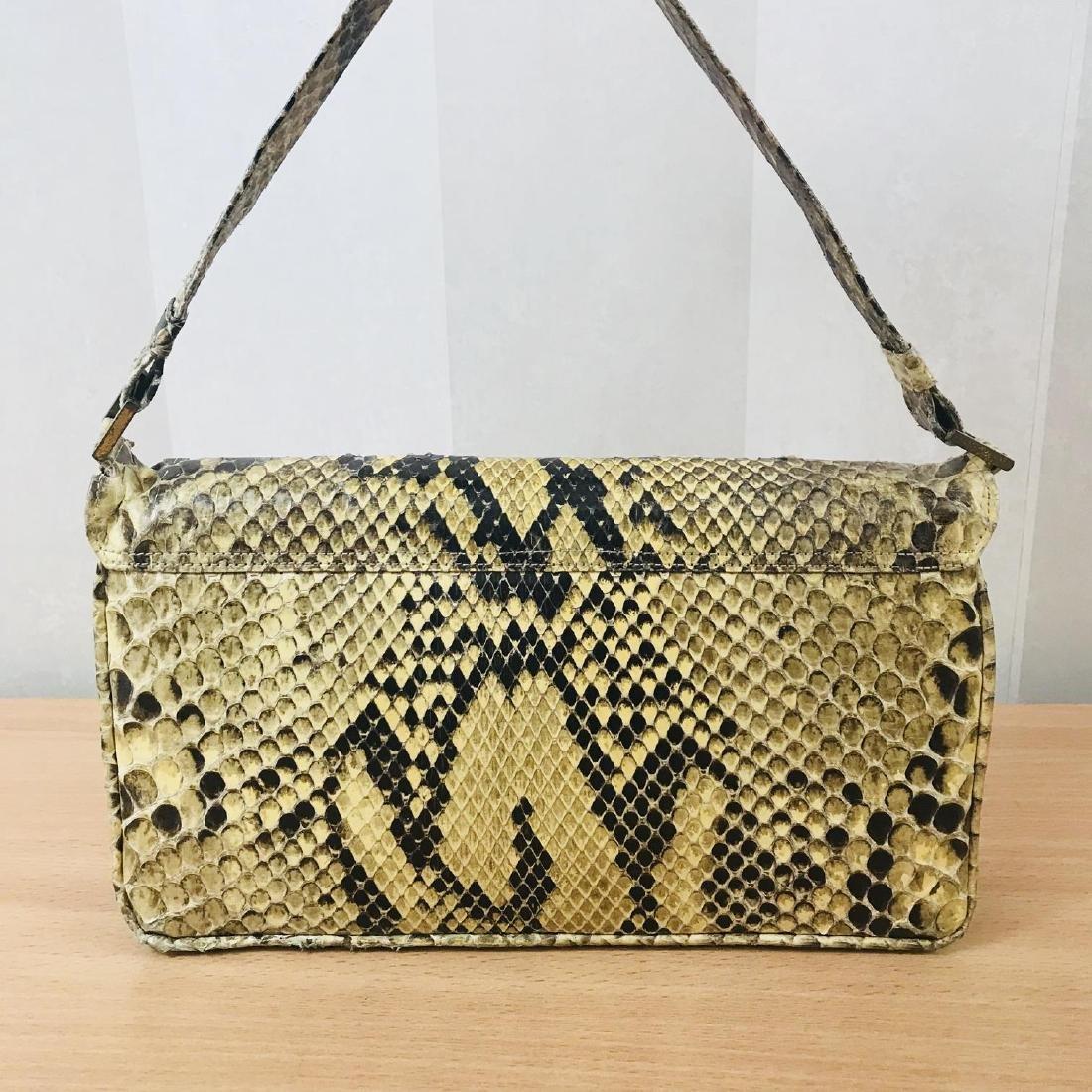 Vintage Snakeskin Leather Handbag - 5