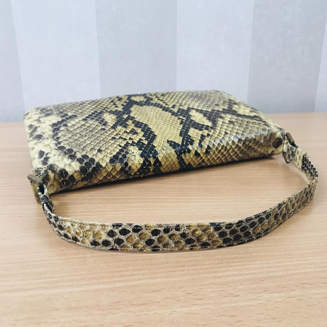 Vintage Snakeskin Leather Handbag - 6
