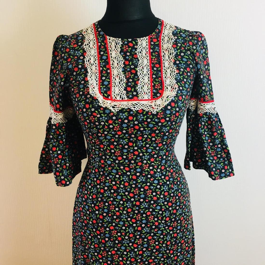 Vintage Women's Tyrolean Style Dress Size EUR 36 US 6 - 3