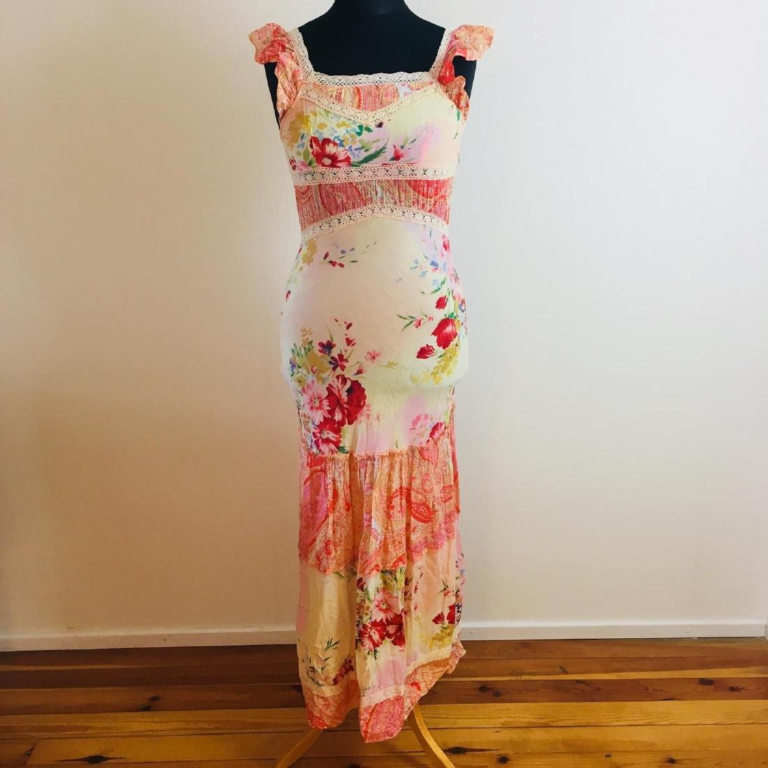 Women's Rene Derhy Designer Cocktail Maxi Dress