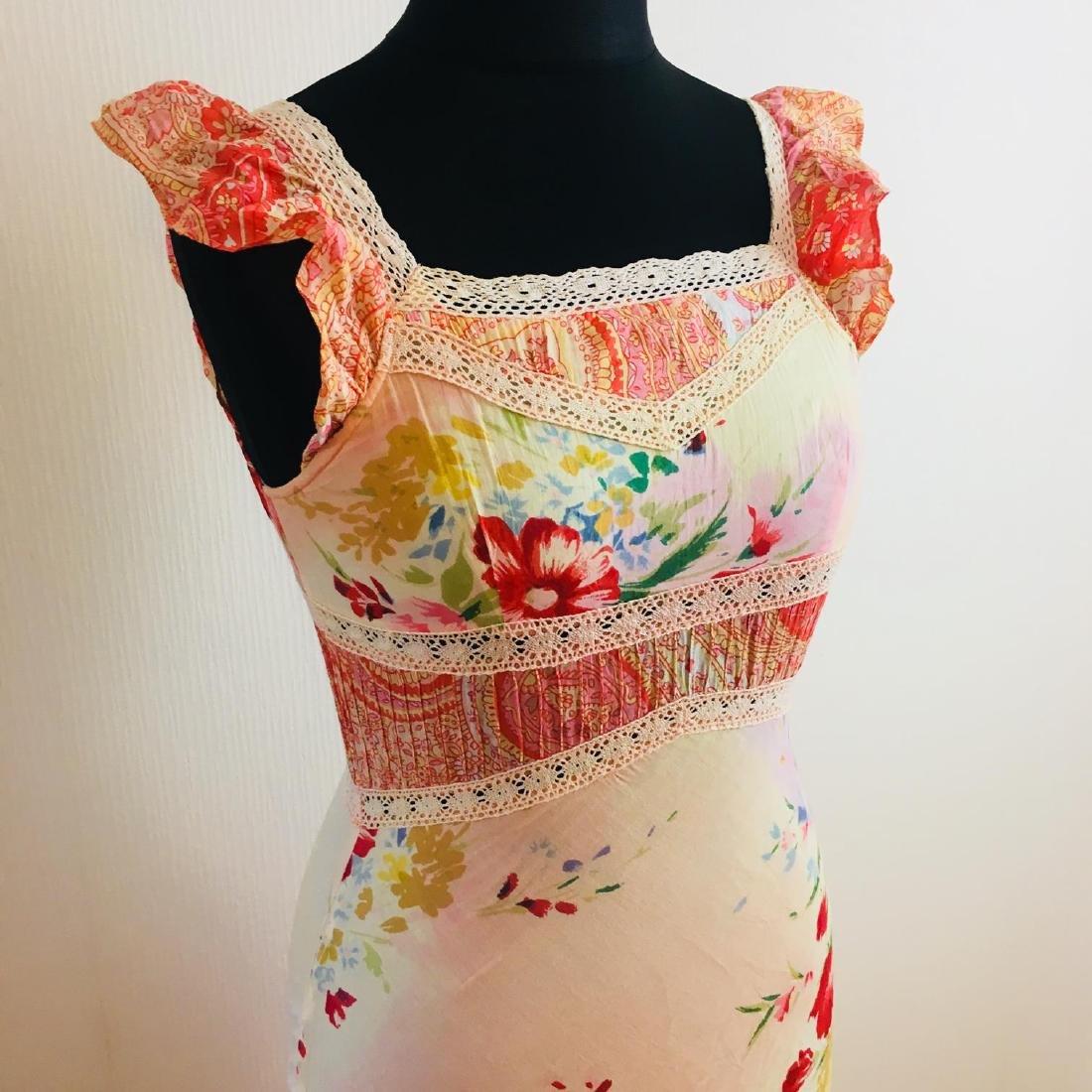 Women's Rene Derhy Designer Cocktail Maxi Dress - 2