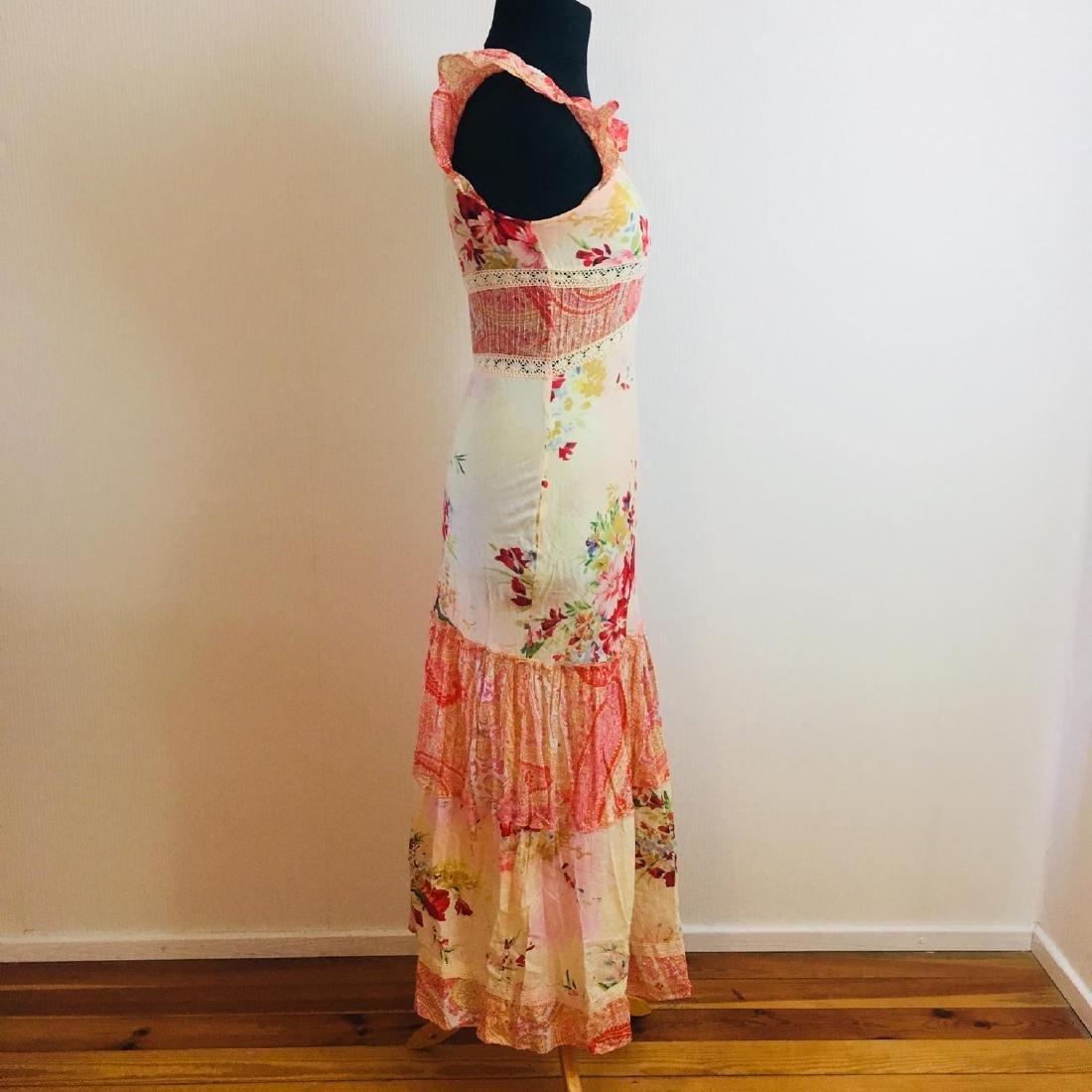 Women's Rene Derhy Designer Cocktail Maxi Dress - 4