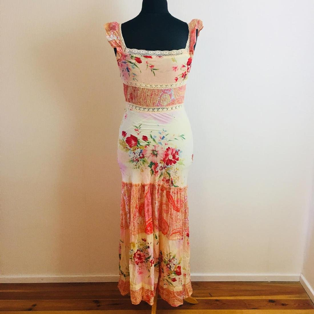 Women's Rene Derhy Designer Cocktail Maxi Dress - 5