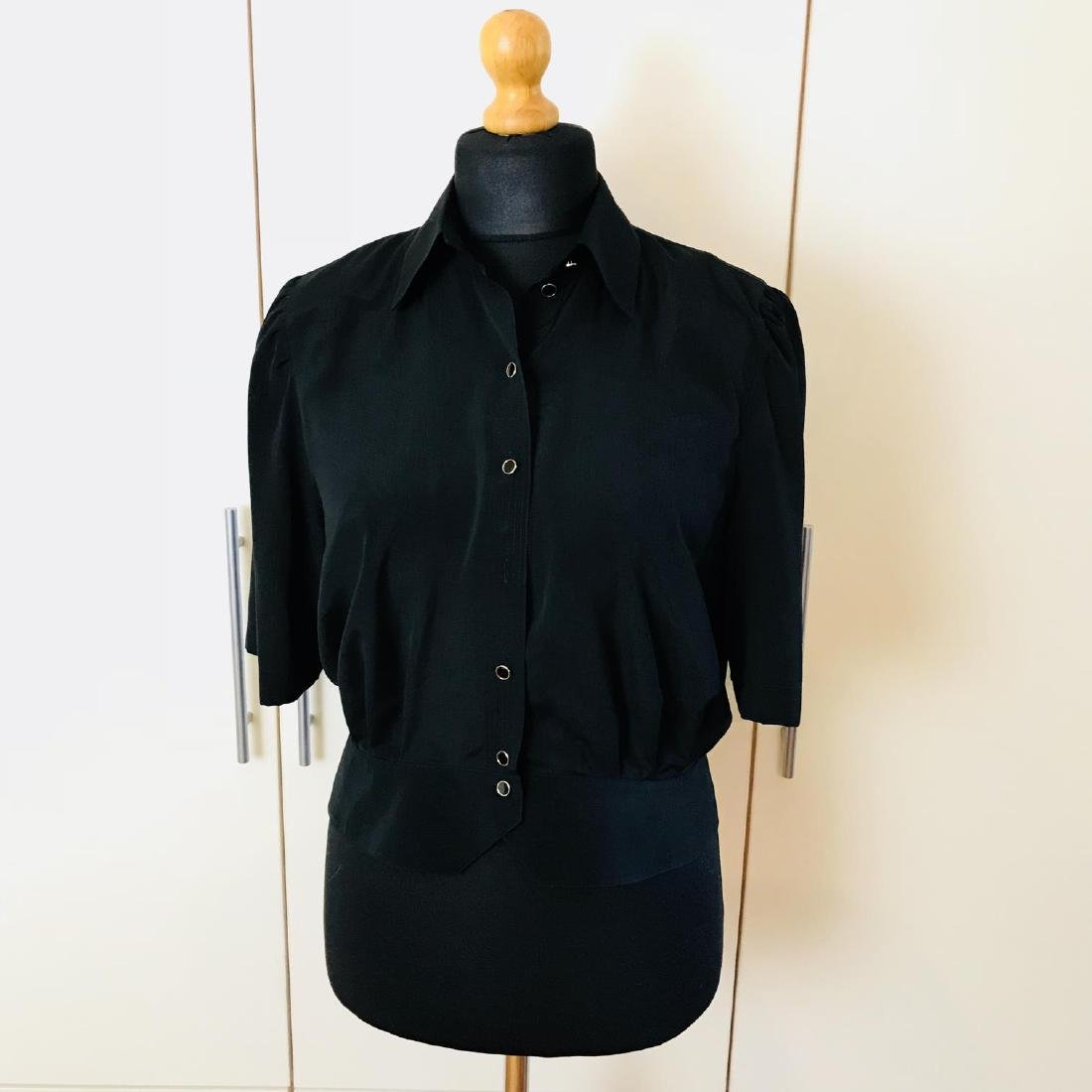 Vintage Women's Black Blouse Shirt Top Size EUR 40 US