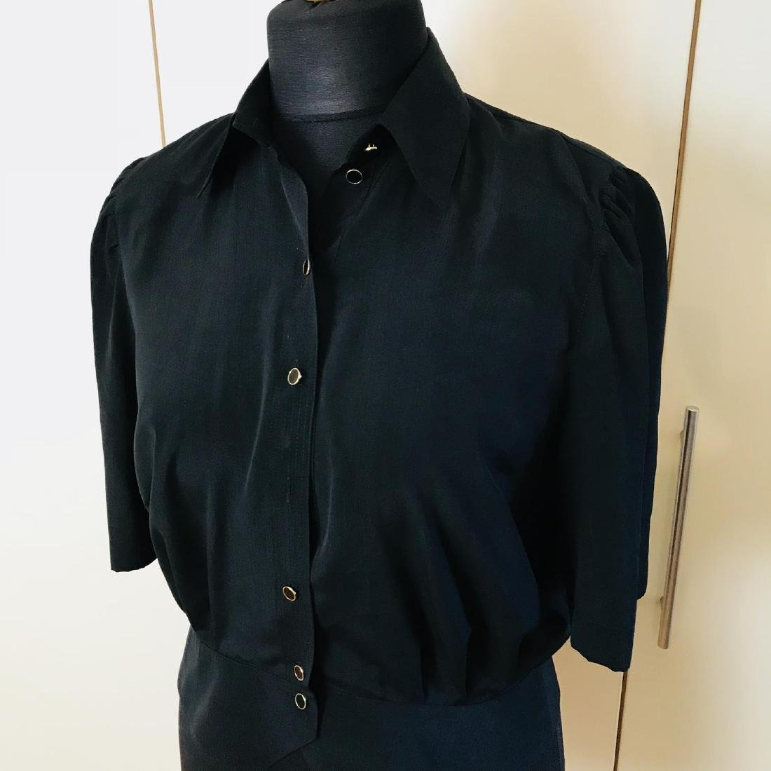 Vintage Women's Black Blouse Shirt Top Size EUR 40 US - 2