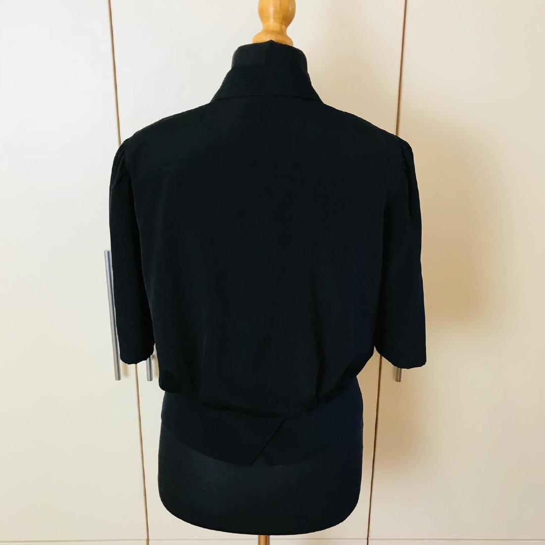 Vintage Women's Black Blouse Shirt Top Size EUR 40 US - 4
