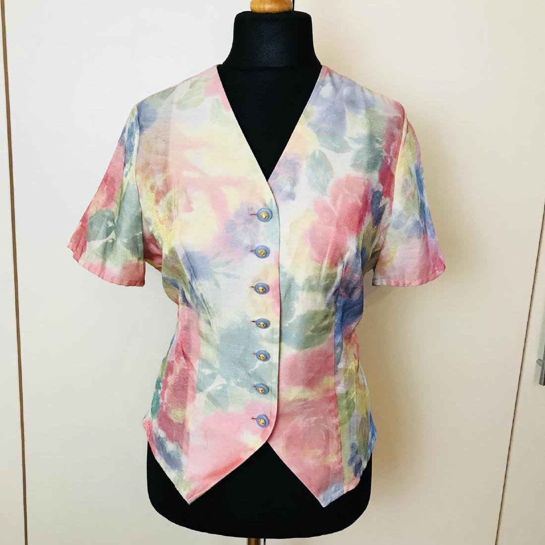 Vintage Women's FINK Blouse Shirt Top Size EUR 40 US 10