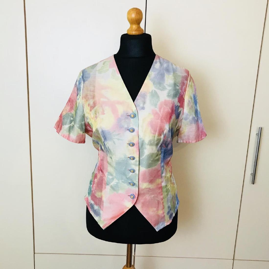 Vintage Women's FINK Blouse Shirt Top Size EUR 40 US 10 - 2