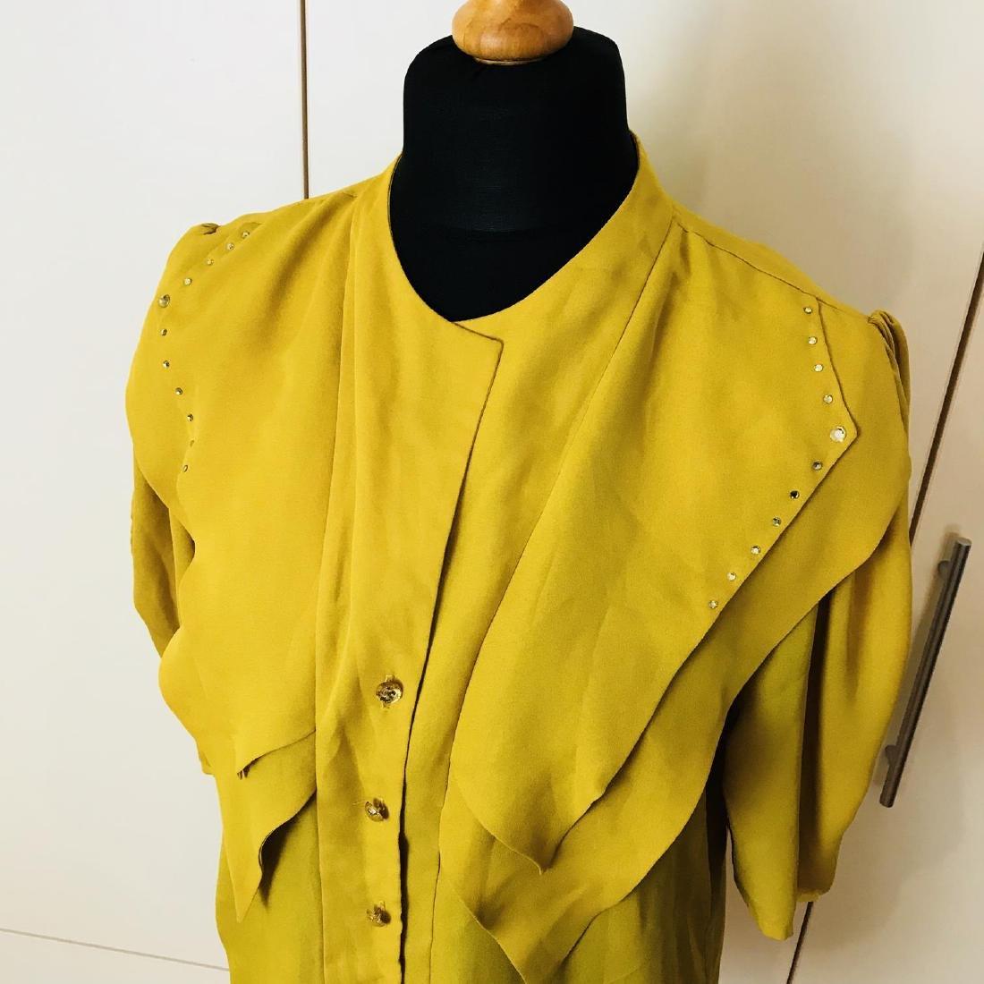 Vintage Women's Yellow Blouse Shirt Top Size EUR 40 US - 2