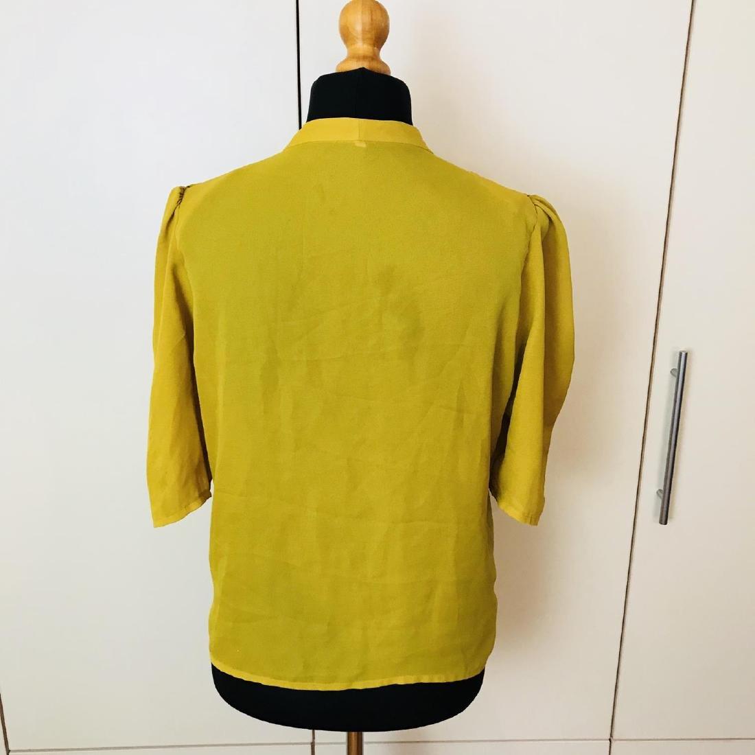 Vintage Women's Yellow Blouse Shirt Top Size EUR 40 US - 4