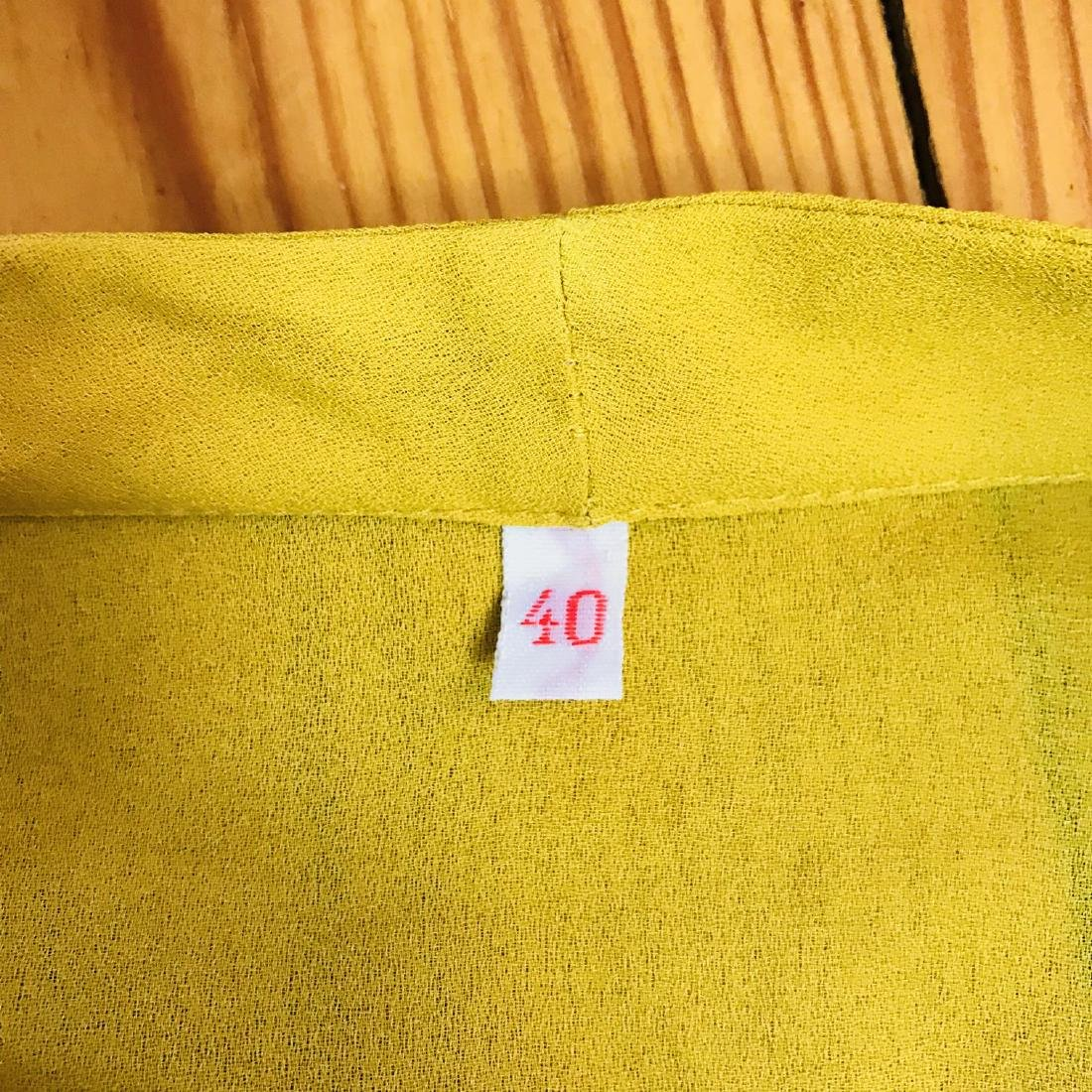 Vintage Women's Yellow Blouse Shirt Top Size EUR 40 US - 5