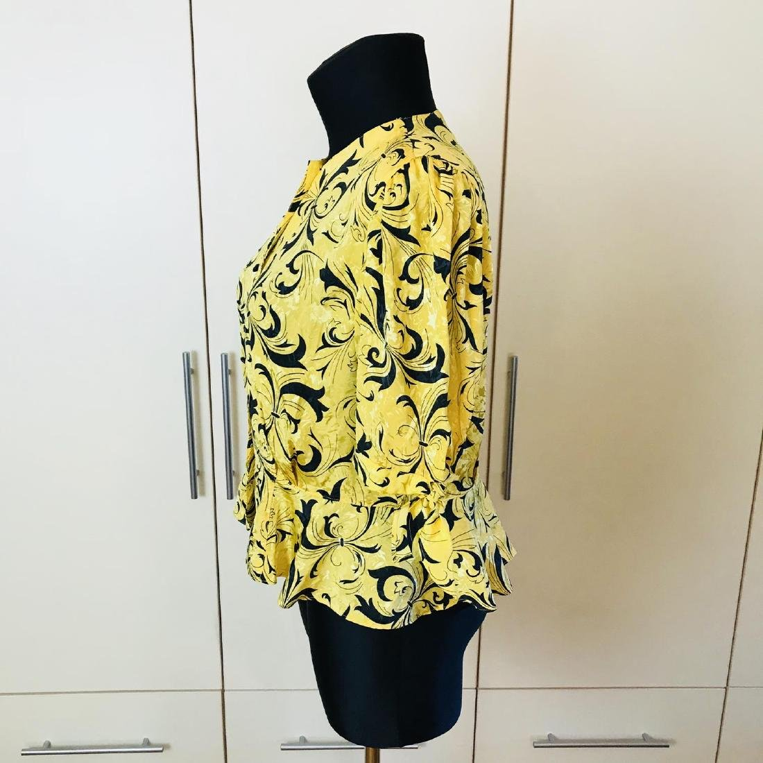 Vintage Women's Yellow Blouse Shirt Top Size EUR 46 US - 4