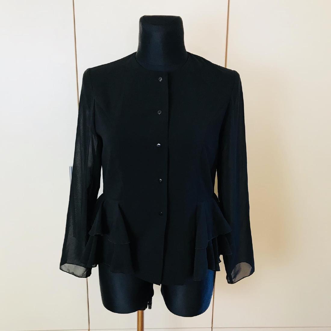 Vintage Women's Black Blouse Shirt Top Size EUR 40 US