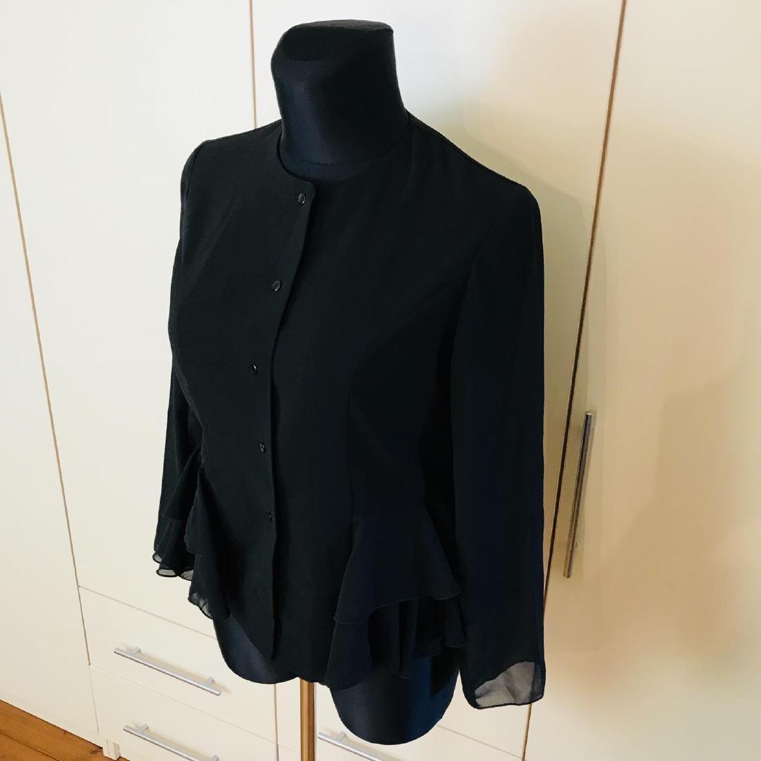 Vintage Women's Black Blouse Shirt Top Size EUR 40 US - 2
