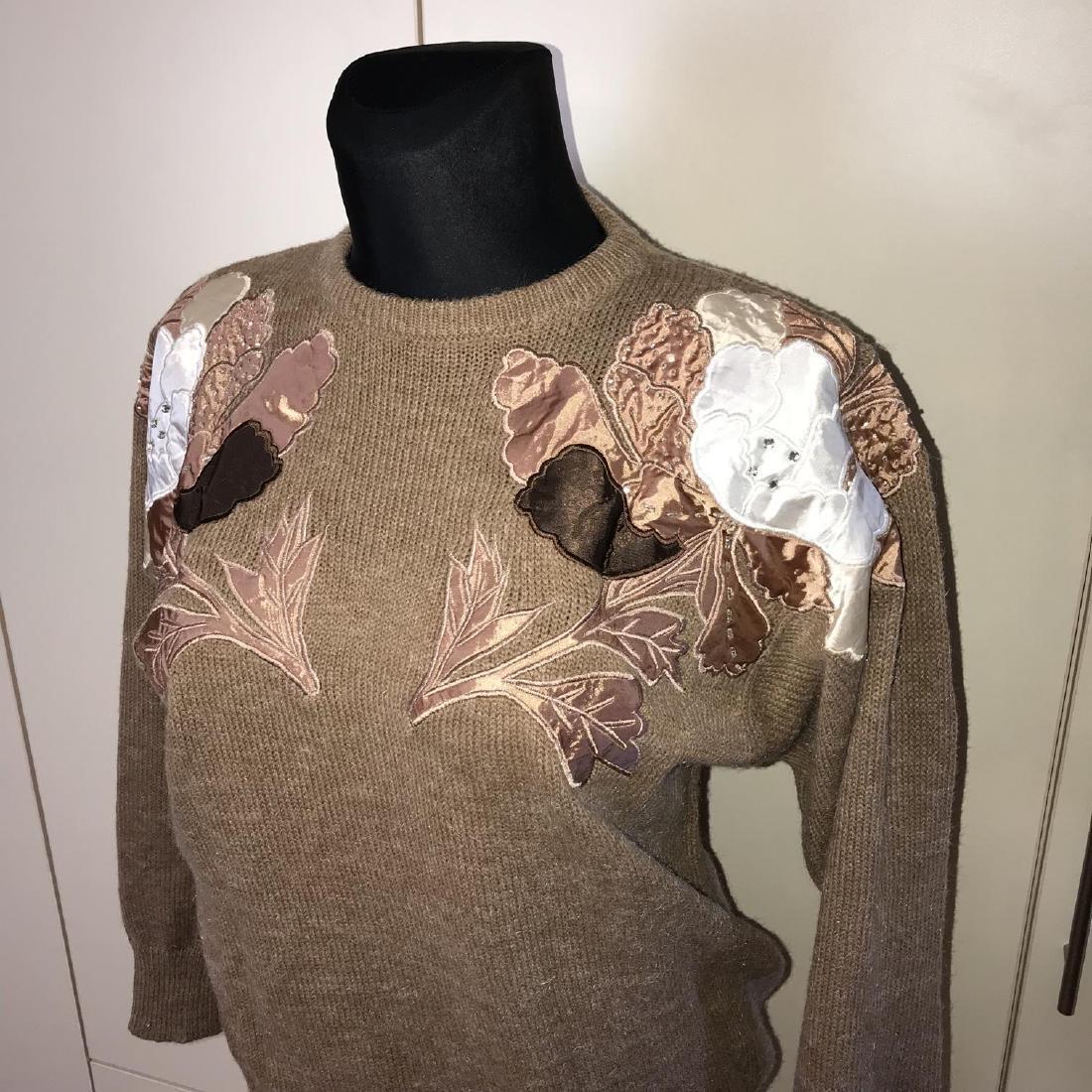 Vintage Women's Oversized Sweater Size EUR 40 US 10 - 2