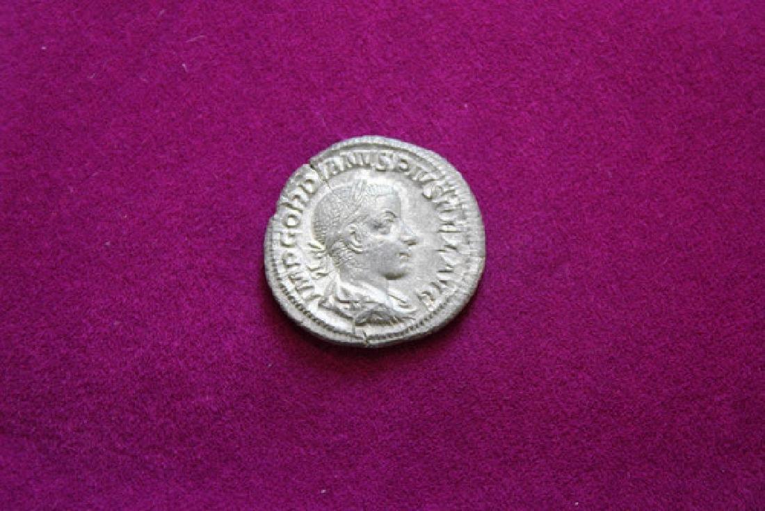 Gordian III Ar Denier Coin - 2