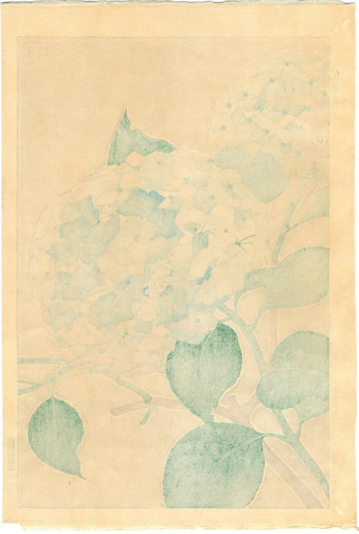Shodo Kawarazaki Woodblock Hydrangea - 2