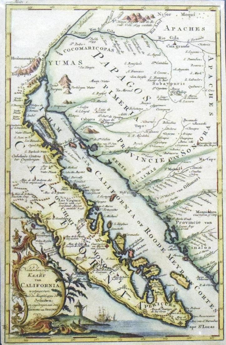 1757 Venegas Map of Baja California -- Naauwkeurige