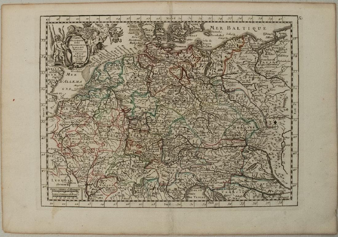 1743 Le Rouge Map of the German Empire -- L'Empire