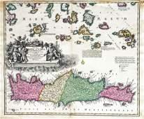 Homann: Crete and Aegean Islands 1730