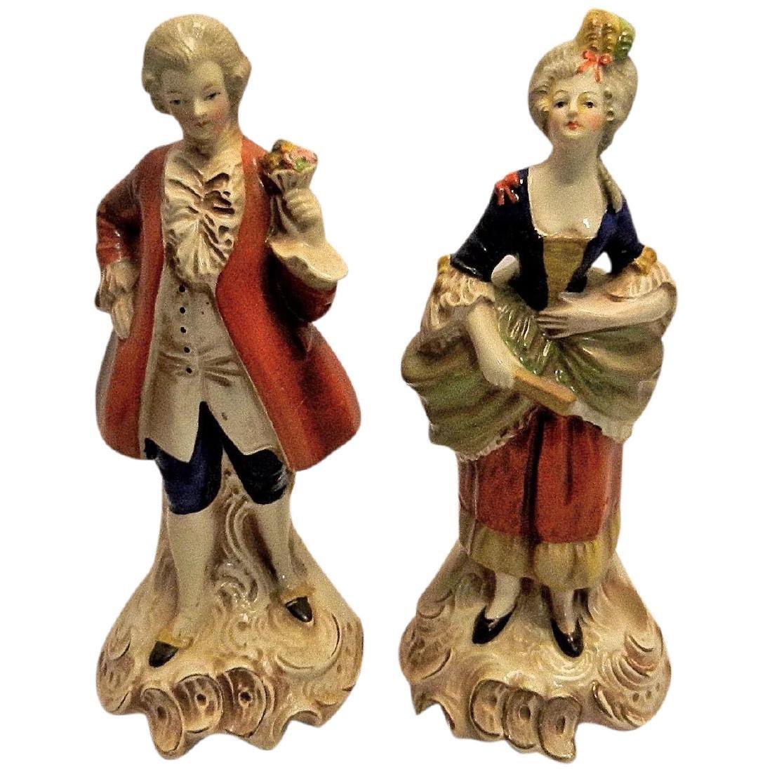 Vintage Pair of W. Goebel Victorian Figurines Made in