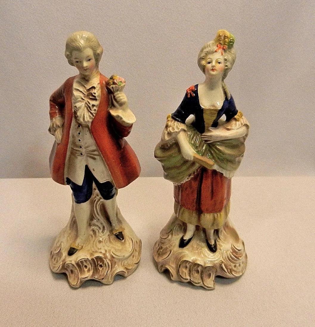 Vintage Pair of W. Goebel Victorian Figurines Made in - 2