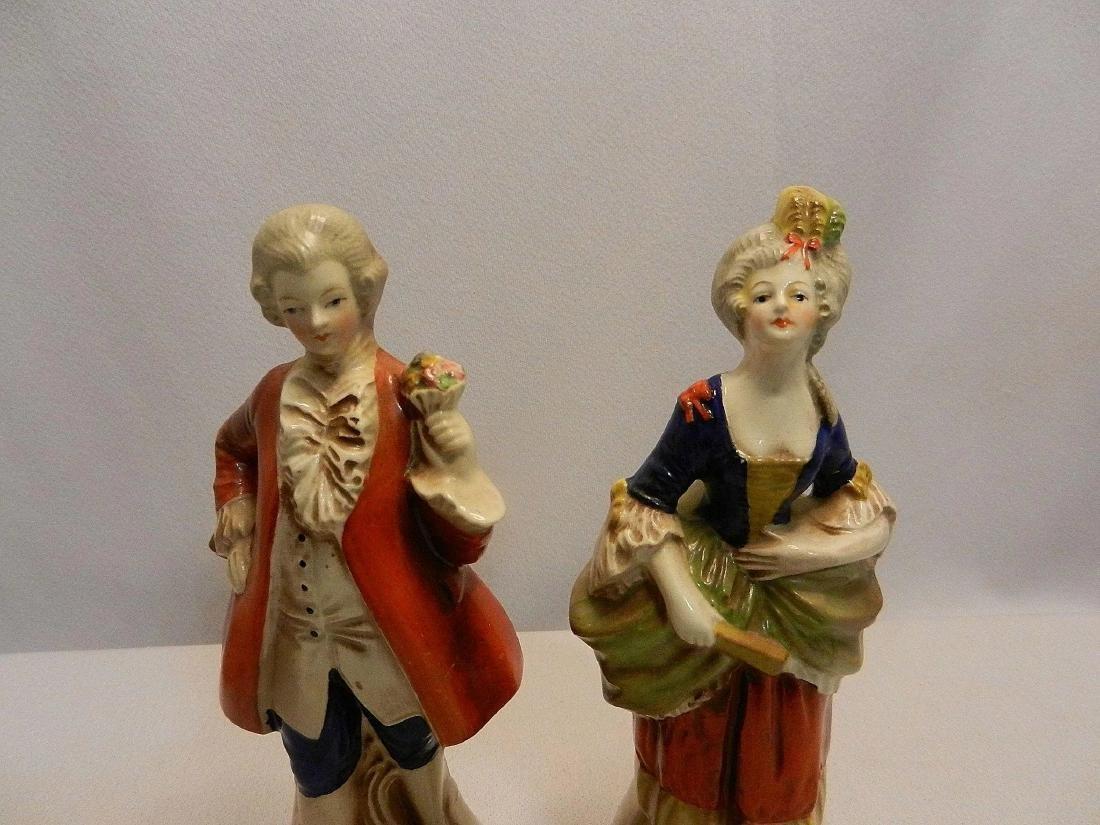 Vintage Pair of W. Goebel Victorian Figurines Made in - 3