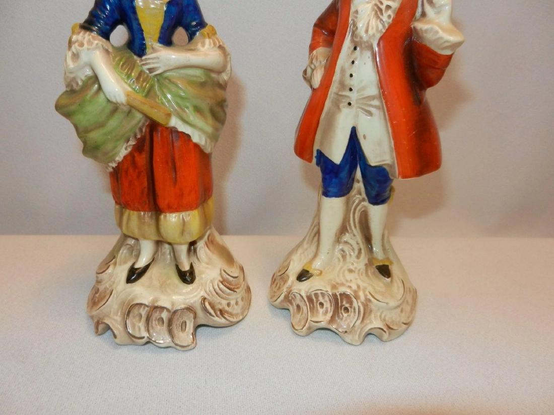Vintage Pair of W. Goebel Victorian Figurines Made in - 4