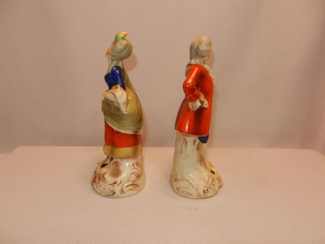 Vintage Pair of W. Goebel Victorian Figurines Made in - 5