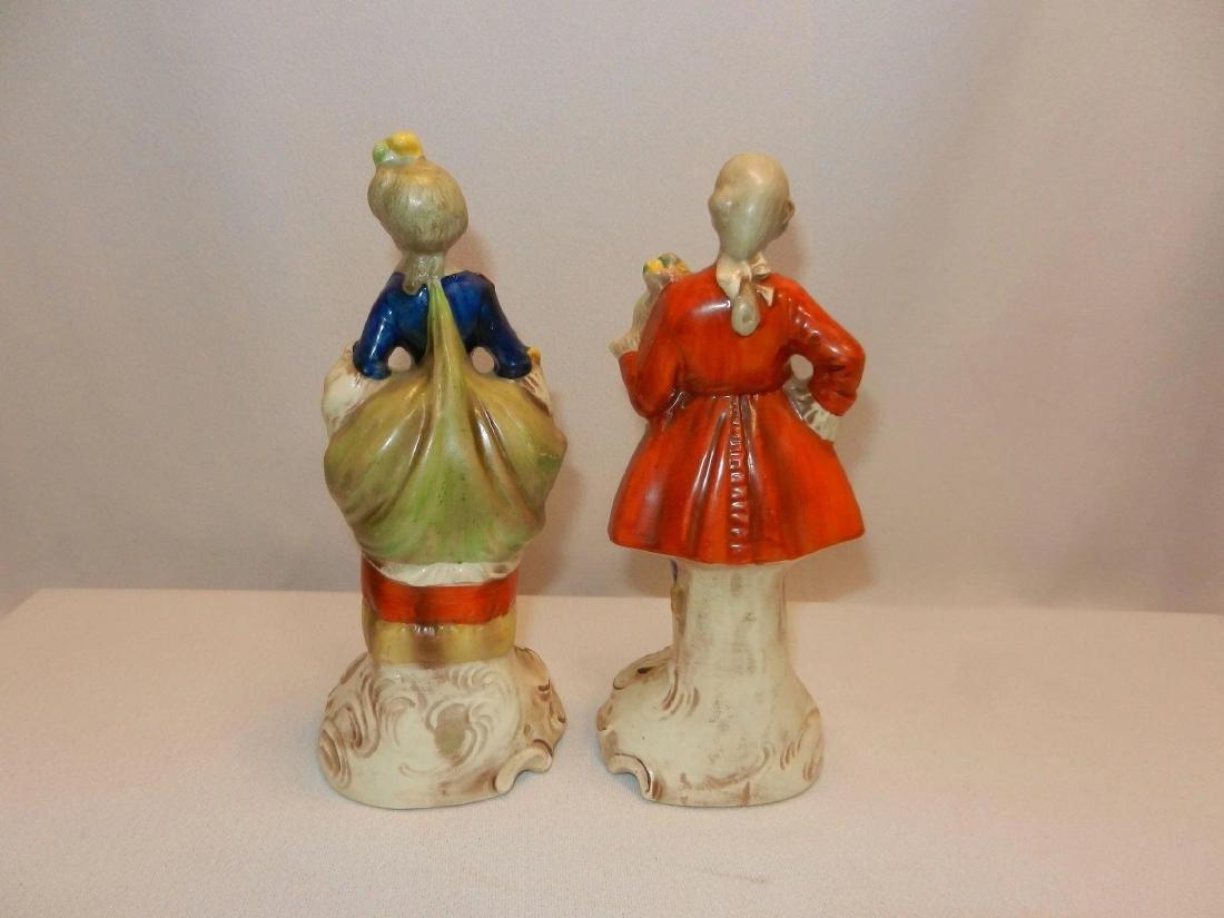 Vintage Pair of W. Goebel Victorian Figurines Made in - 6
