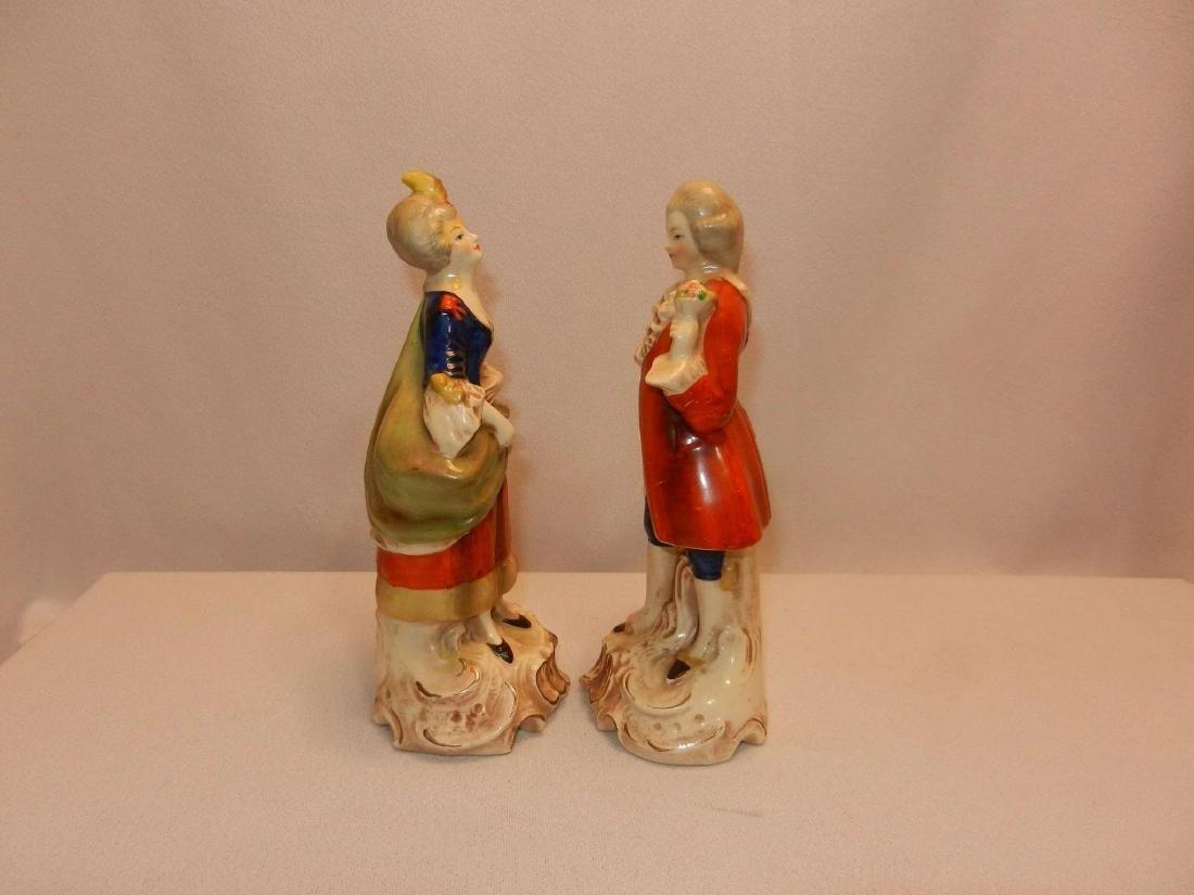 Vintage Pair of W. Goebel Victorian Figurines Made in - 7