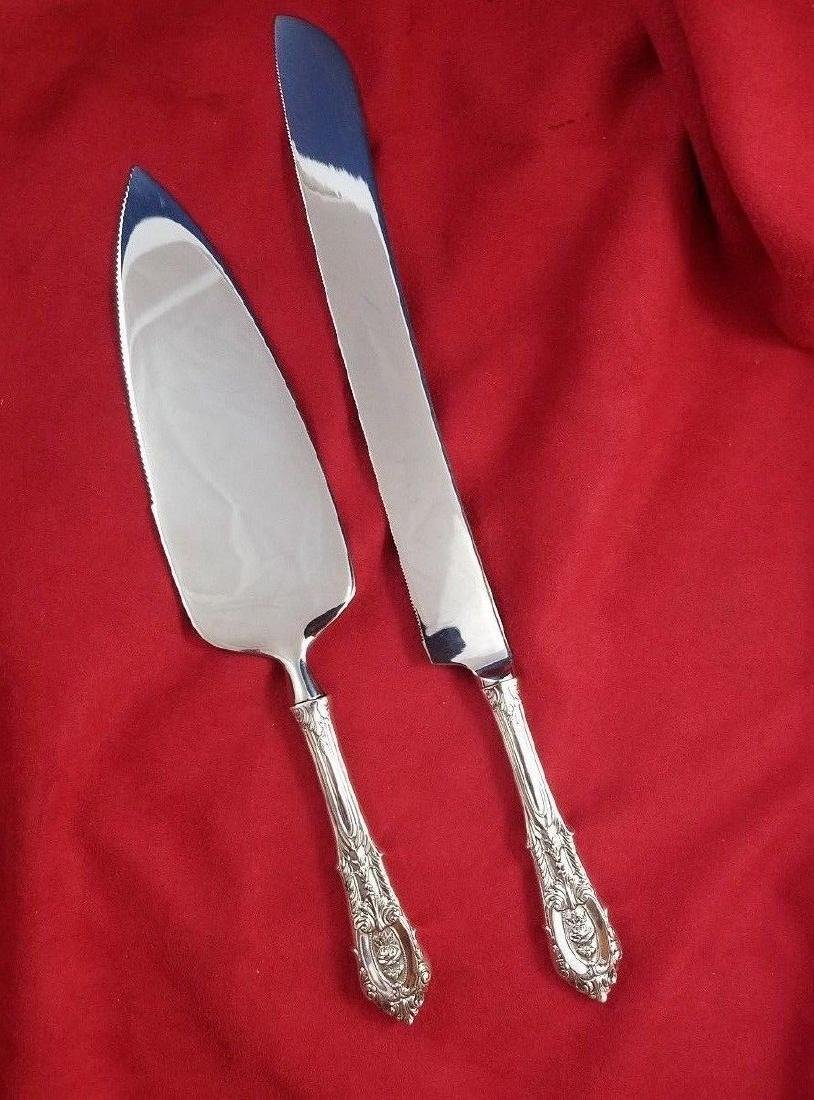 Rose Point by Towle Sterling Cake Set
