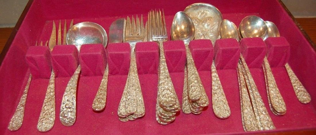 51 PIECE SET OF STIEFF ROSE STERLING SILVER FLATWARE - 4