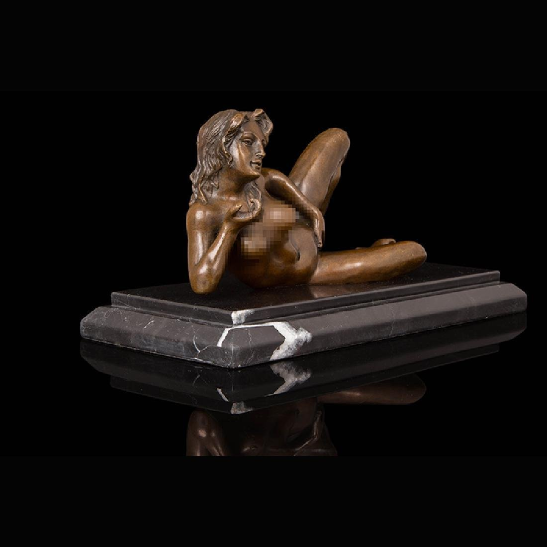 Bronze erotic girl statue - 2