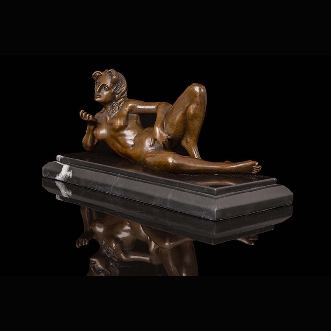 Bronze erotic girl statue - 4