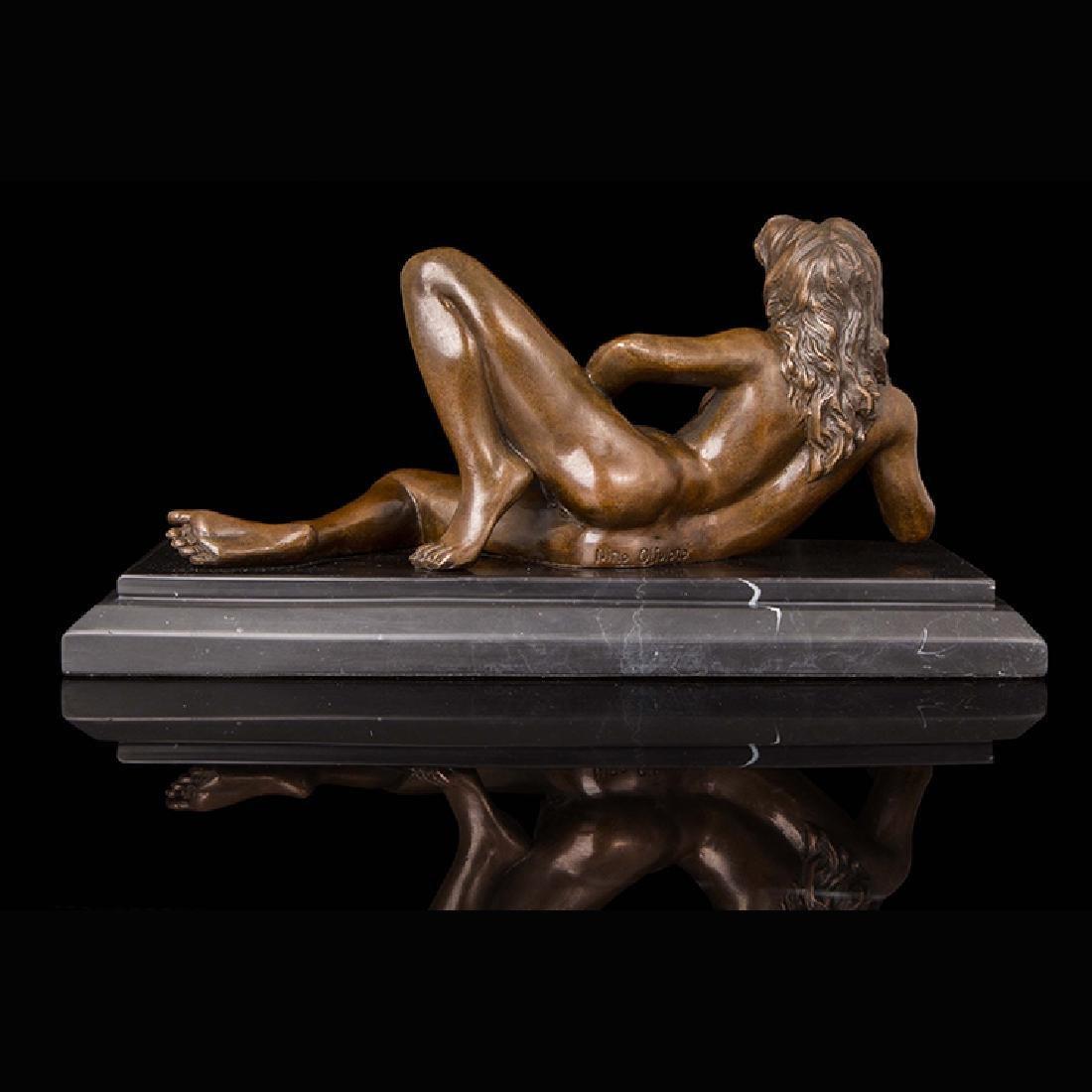 Bronze erotic girl statue - 5