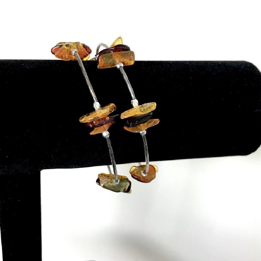 Baltic amber spiral bracelet bicolour beads 9-18mm - 6