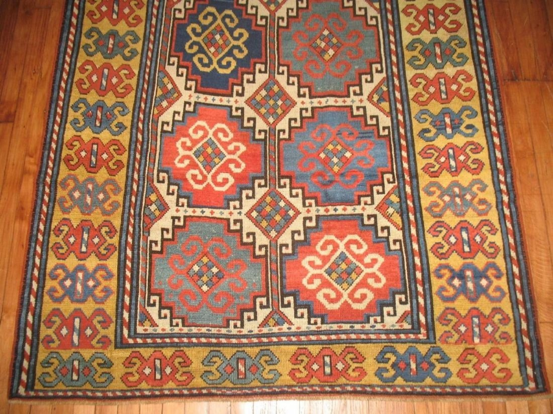 Antique Caucasian Kazak Shirvan Gendje Moghan Rug 4.5x7 - 2