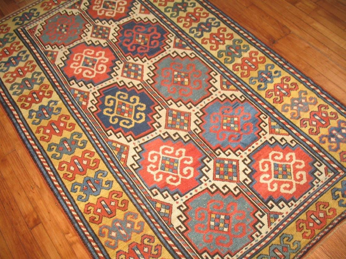 Antique Caucasian Kazak Shirvan Gendje Moghan Rug 4.5x7 - 3