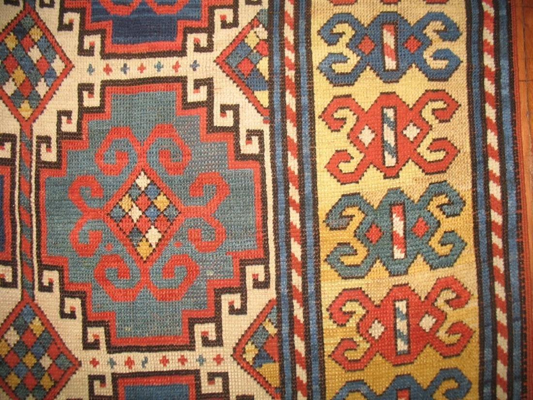 Antique Caucasian Kazak Shirvan Gendje Moghan Rug 4.5x7 - 4