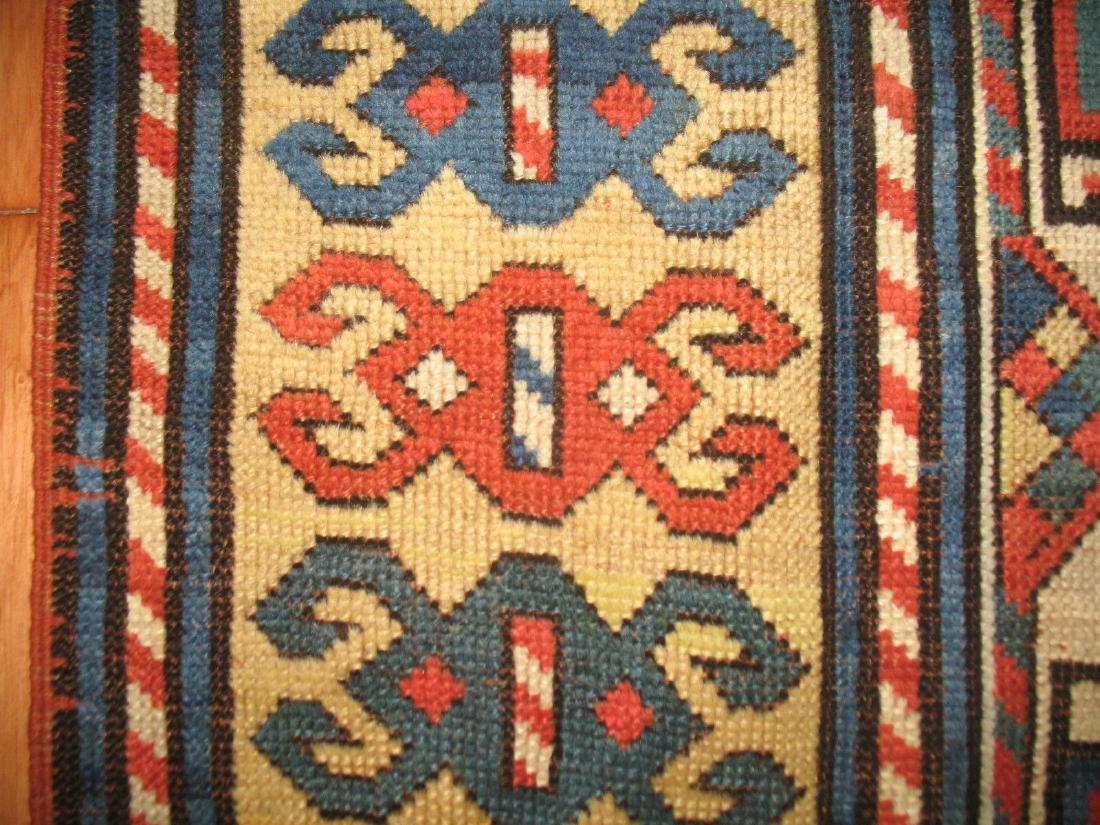 Antique Caucasian Kazak Shirvan Gendje Moghan Rug 4.5x7 - 7