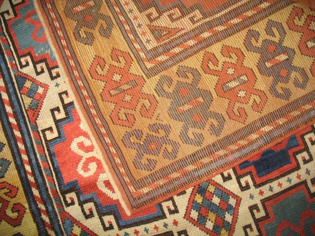 Antique Caucasian Kazak Shirvan Gendje Moghan Rug 4.5x7 - 8