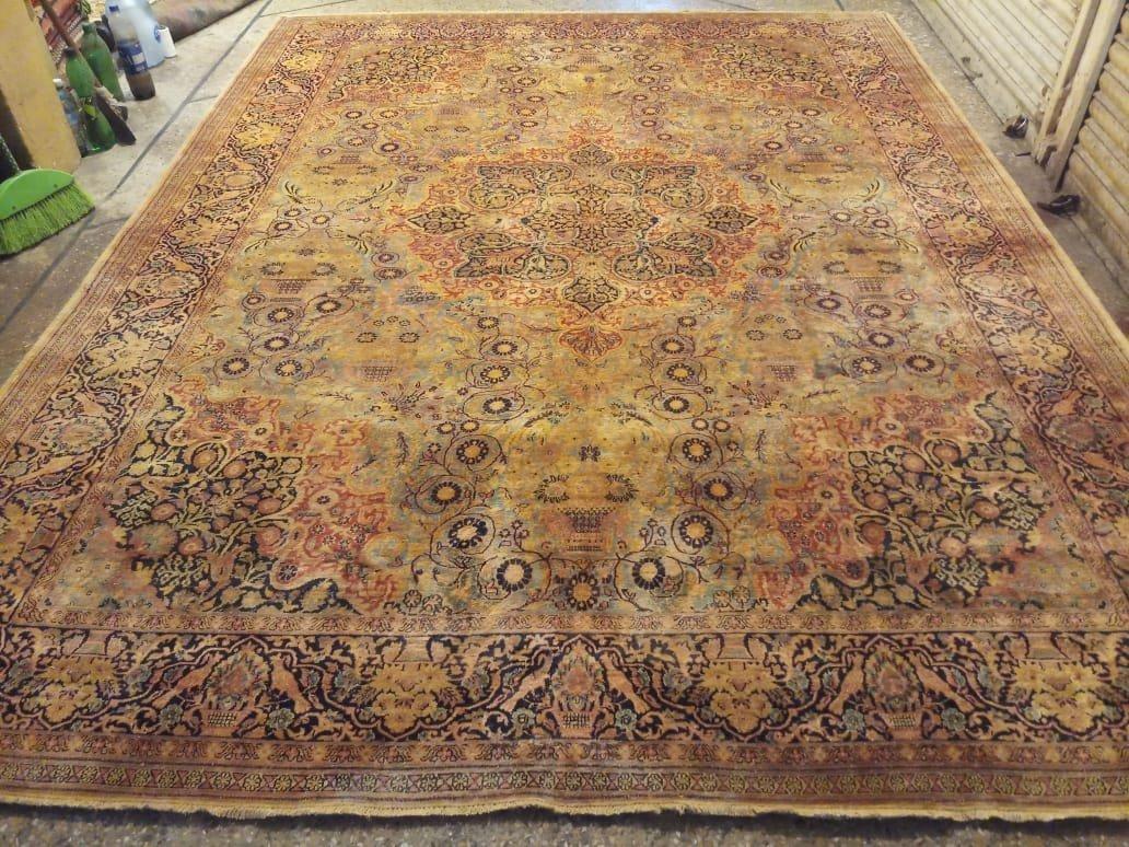 Kashmiri Silk Rug 9x12