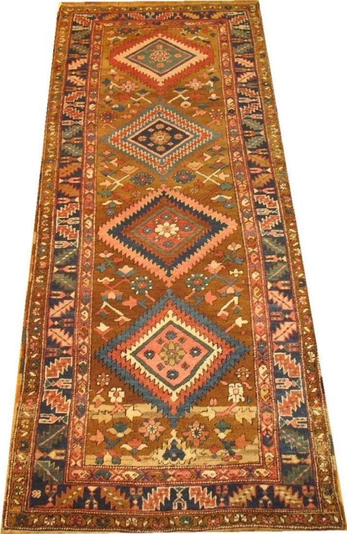 Antique TRIBAL Heriz Serapi Bakhshaish Rug 3.2x8.9