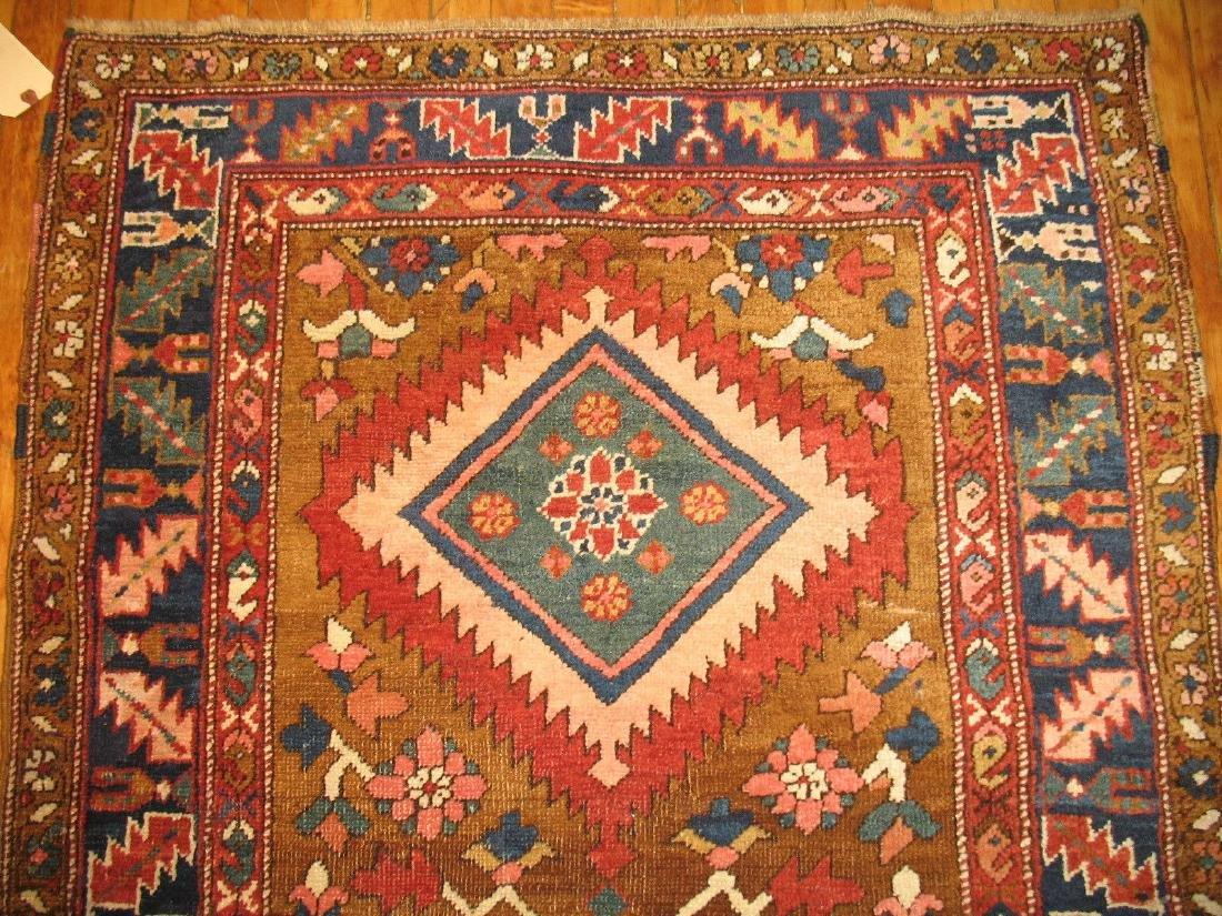 Antique TRIBAL Heriz Serapi Bakhshaish Rug 3.2x8.9 - 3